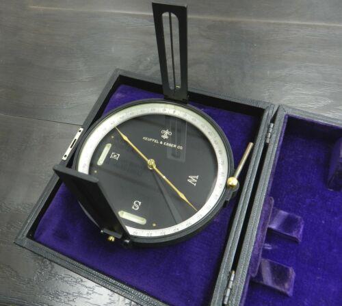 Vintage Keuffel & Esser 5534 Surveying Compass, Ball, in the Original K&E Case