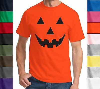 Funny Halloween T Shirt Pumpkin Face Easy Costume Jack O Lantern Spooky Fun Tee  - Easy Pumpkin Halloween Costume