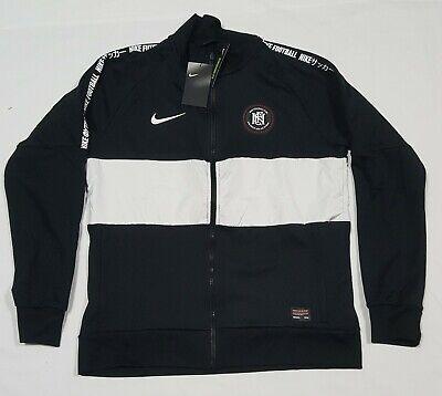 Nike Football Club Soccer Full-Zip Track Jacket Mens  Black AH9519-010 Nike Football Jacket