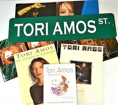 Tori Amos - Collection Lot Metal Sign 4 Programs 2 softcover books 1 Biography Tori Amos Collection