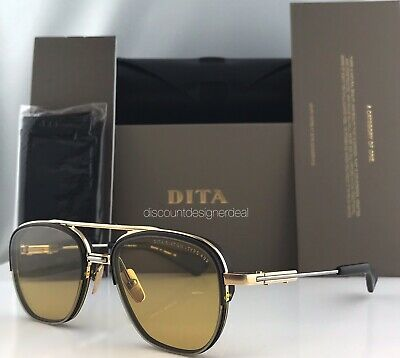 DITA RIKTON - TYPE 402 Sunglasses DTS117-54-01 Gold Black Amber Chromatic (Chromatic Sunglasses)