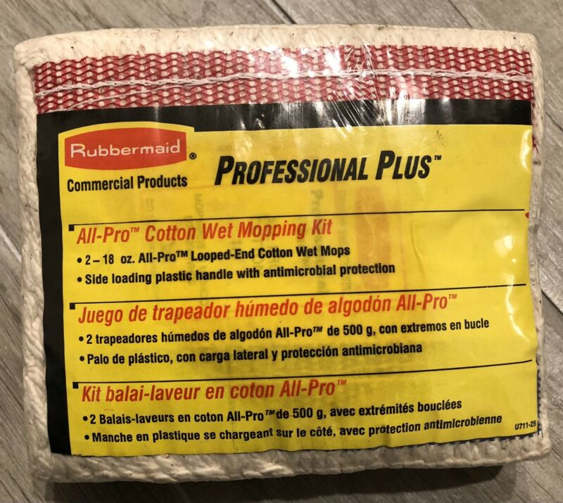 Rubbermaid Professional Plus All-Pro Cotton Wet Mopping Kit