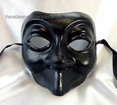 Blank White and Black Masquerade full face mask adult Halloween midnight costume - Halloween Mask White And Black
