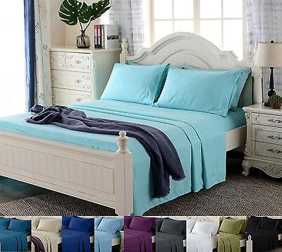 Deep Pocket 4 Piece Bed Sheet Set 1800 Count Egyptian Comfort Sheets
