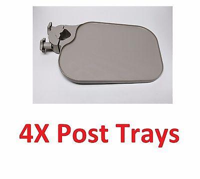 4x Tpc Us100 Post Mounted Utility Pole Post Tray Shelf Table Dental Medica Beige