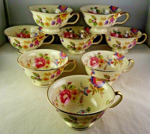 Eight Castleton China Sunnybrooke Cups (no saucers)