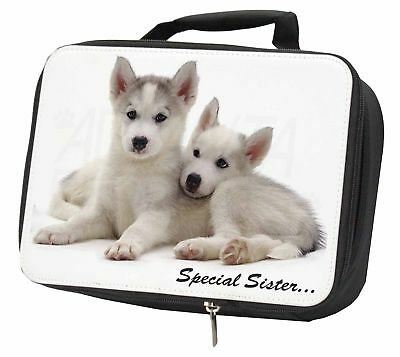 Huskies 'Special Sister' Sentiment Black Insulated School Lunch Box B, AD-H70LBB
