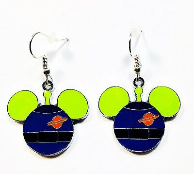Disney Mickey Head Toy Story Alien Character Drop Dangle Earrings - Ships Fast