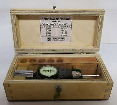 Federal .0001 Model No. 0 Dial Bore Gage 0.126-0.255 In With Wood Case Ids-271