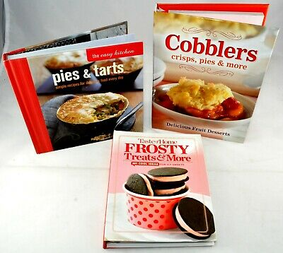 Lot Cookbooks EASY BAKING Pie Tarts Cobblers Crisps TASTE OF HOME Frosty Treats