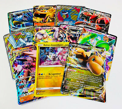 5 OVERSIZED JUMBO POKEMON CARDS IN TOP LOADERS! EX GX Legendary Full Art