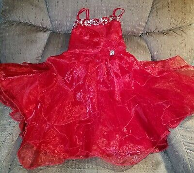 Little girls fancy dresses, JOYKIDS USA Size 4, Red ❤ - Girls Dresses Fancy