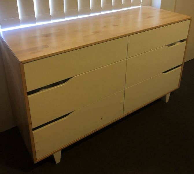 Ikea Askvoll White And Wood Six Drawer Storage Set Childrens Dressers Drawers Gumtree Australia Rockingham Area Secret Harbour 1210267697