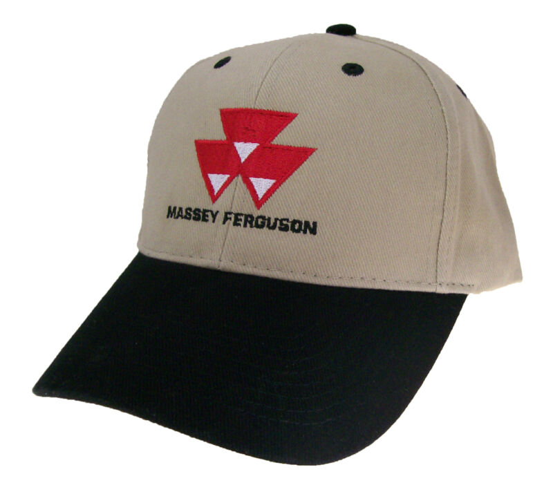 Massey Ferguson Tractor Triangles Farm Embroidered Cap Hat #40-9300kbv