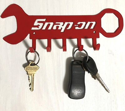 Snap On Tools Key or Dog Leash Holder wall art-CNC cut for garage or man cave