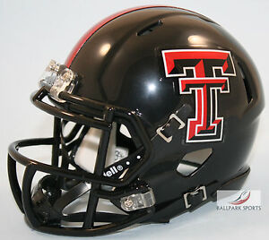 TEXAS TECH RED RAIDERS - Riddell Speed Mini Helmet (GUNS UP)