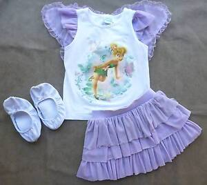 Disney Tinkerbell Outfit with Wings & Bonus Slippers Size 3 Hampton Bayside Area Preview