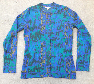 Isaac Mizrahi Live! Abstract Animal Jacquard Zip Cardigan, Size XL, MSRP $73 - Jacquard Zip Cardigan