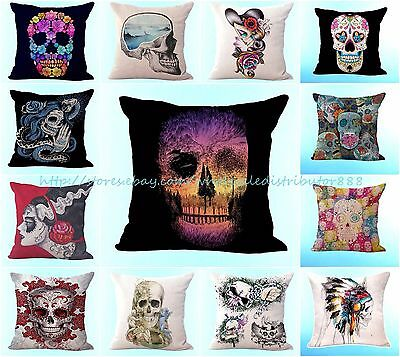 wholesale 10pcs sugar skull Halloween cushion cover home decoration pillowcases - Halloween Decor Wholesale