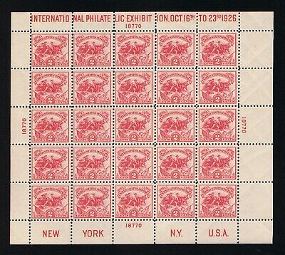 OUTSTANDING GENUINE SCOTT #630 VF-XF MINT OG NH FULL WHITE PLAINS SOUVENIR SHEET