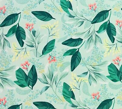 Mint Spring Garland Fresh Meadow Cotton Quilt Fabric Melissa Lowry Clothworks Mountain Fresh Bedding