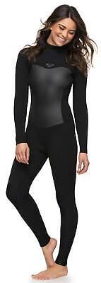 Roxy Women's Syncro Series 4/3mm Back Zip Full Wetsuit - Bla