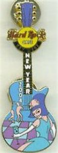 Hard-Rock-Cafe-KEY-WEST-2004-New-Years-Girl-GUITAR-PIN