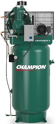 THE BEST 5HP AIR COMPRESSOR CHAMPION VRV5-8 FULLY PACKAGED 5 HP SINGLE PHASE (Best Stationary Air Compressor)