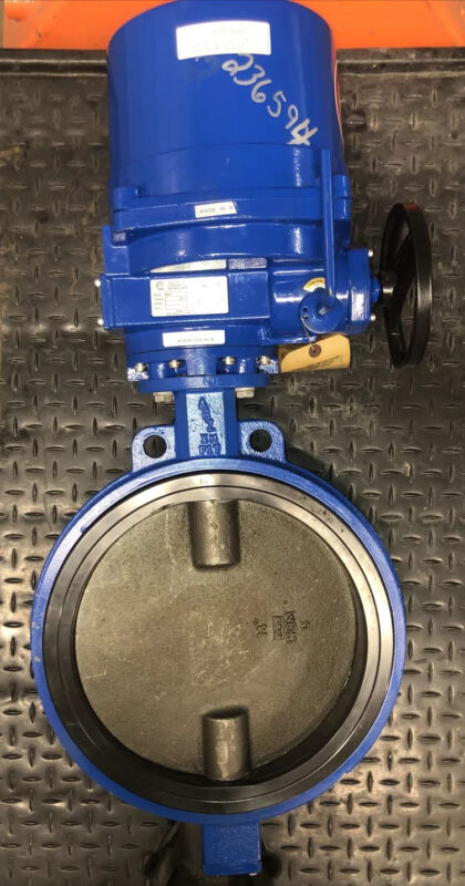 """New Old-Stock, ABZ Valve ABZ-080 Electric Actuator With 14"""" Butterfly Valve"""