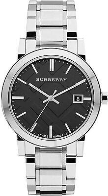 Nuevo Burberry BU9001 Unisex Cuadros Grabado Reloj - 2 Años Garantia