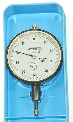 Fowler 52-528-102 Dial Gage .250x.001 Made In Germany Great Deal