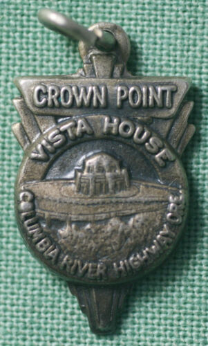1930s Crown Point Vista House Columbia River Highway Oregon Sterling Pendant