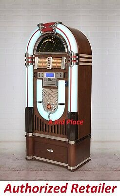 Crosley iJuke Bluetooth Deluxe Full Size Jukebox CD Radio AN