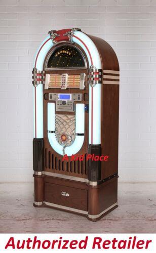 Crosley iJuke Bluetooth Deluxe Full Size Jukebox CD Radio AND Matching Stand NEW