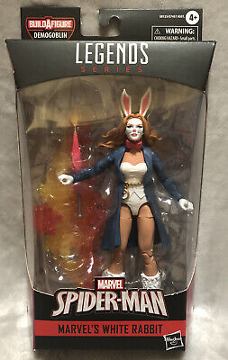NEW Marvel Legends Spider-Man White Rabbit BAF Demogoblin 6 inch Action Figure