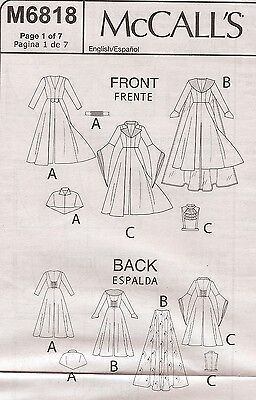 Evil Queen costume PATTERN McCalls 6818 Sz 4-20 Once Upon
