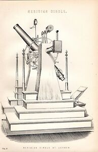 1880-PRINT-ASTRONOMY-MERIDIAN-CIRCLE-AT-LEYDEN