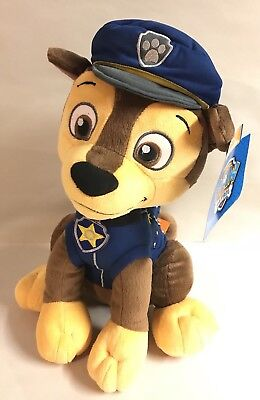 "Paw Patrol CHASE Plush 16"" Pup Boy Dog Blue Nickelodeon Nick Jr Toy New"