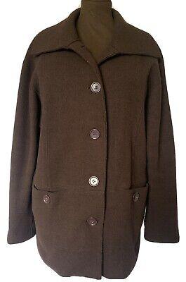JONES NEW YORK Boiled Wool Jacket Coatigan Cardigan Unlined Softshell Coat UK 16