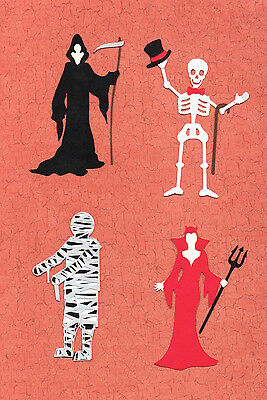 QuicKutz Silhouette  Halloween Party Guests Die Cut Embellishments, Sizzix  (Silhouette Halloween)