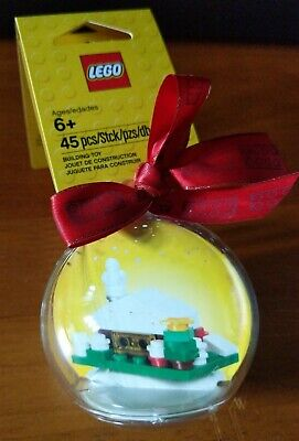 LEGO Holiday Ornament Christmas Snow House Bauble with Ribbon 850949 Hut Cabin