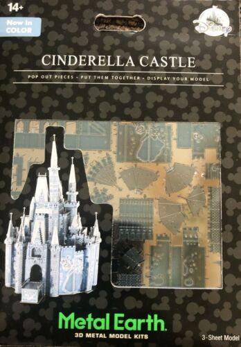 Disney Parks Cinderella Castle Blue Color Metal Earth 3D Model Kits - NEW
