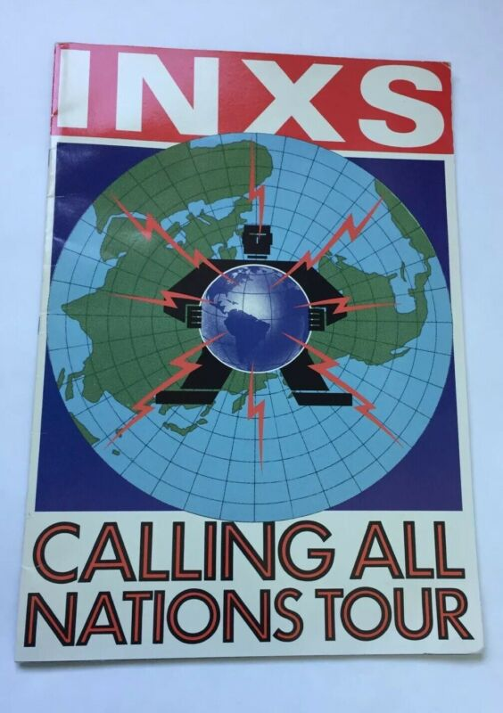 INXS Calling All Nations Tour Concert Program 1988