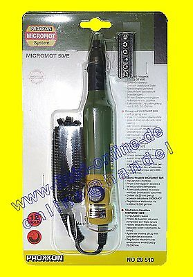 PROXXON 28510 Bohr- und Fräsgerät MicroMot 50/E mit Drehzahlverstellung - NEU