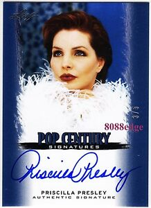 2012-POP-CENTURY-AUTO-PRISCILLA-PRESLEY-3-5-ON-CARD-AUTOGRAPH-ELVIS-NAKED-GUN