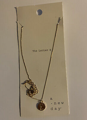 a new day The Letter E Necklace Jewelry