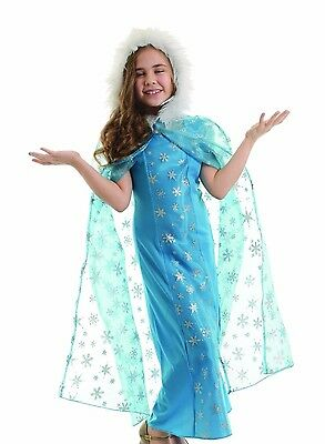 Snow Queen Cape (GIRLS SNOW QUEEN HOODED CAPE CHILD HALLOWEEN COSTUME)