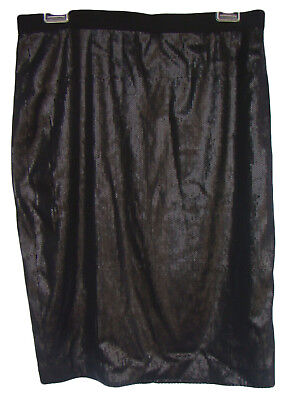 a1b28919b8 ANN TAYLOR Size 10P 10 Petite Black Sequined Formal Straight Skirt NWT