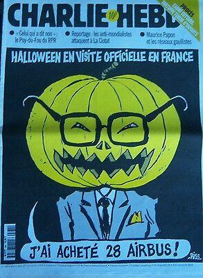CHARLIE HEBDO No 384 OCTOBRE 1999 RISS HALLOWEEN EN VISITE OFFICIELLE EN FRANCE - Octobre Halloween