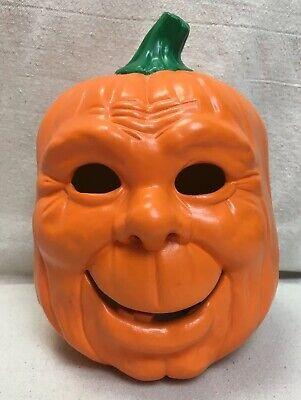 Halloween Cast 1988 (Vintage 1988 Scioto Mold Halloween Happy Pumpkin Jack O Lantern Realistic)